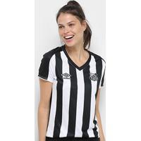 Camisa Santos Ii 2019 S/Nº Torcedor Umbro Feminina - Feminino