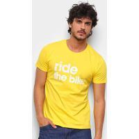 Camiseta Gajang Ride The Bike Masculina - Masculino-Amarelo