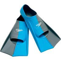 Par De Nadadeiras Training Fin Dual Azul Silicone Speedo