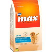 Ração Para Cães Max Professional Line Performance Filhotes Sabor Cordeiro, Frango E Arroz 15Kg