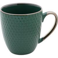 Caneca De Porcelana- Verde Escuro- 10X12X9Cm- 40Rojemac