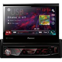 "Dvd Player Automotivo Pioneer Avh-3180Bt Tela Retrátil De 7"" Bluetoot"
