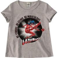 Blusa Ladybug® - Cinza & Vermelha - Kidsmalwee