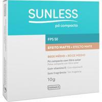 Pó Compacto Sunless Com Fps 50 Sunless Bege Medio - Unissex-Incolor