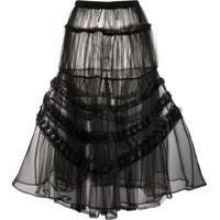 Comme Des Garçons Noir Kei Ninomiya Tiered Tulle Skirt - Preto