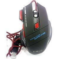 Mouse Gamer Led Jogos Pc Notebook 3200 Dpi - Preto