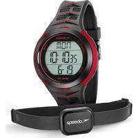 Monitor Cardíaco Speedo 80621G0Evnp - Unissex-Preto+Vermelho
