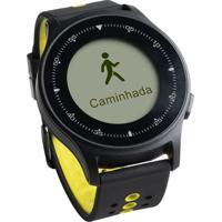Monitor Cardíaco Sportwatch Chronus + Gps À Prova D'Água Preto Atrio Es252