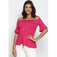 Blusa Ciganinha Com Renda - Pink - Thiptonthipton