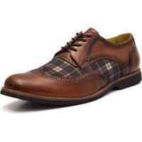 Sapato Social Shoes Grand Chess Marrom Tamanho Especial