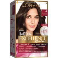 Coloração Imédia Excellence L'Oréal Paris 4 Castanho Natural - Unissex-Incolor