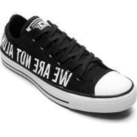 Tênis Converse All Star Chuck Taylor Ox Masculino - Masculino-Preto+Branco