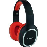 Headphone Inova Sem Fio Stereo Com Microfone - Vermelho