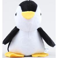 Chaveiro Pinguim Em Pelúcia Preto - Único