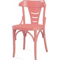 Cadeira Para Sala De Jantar Augustine Laca Rosa Coral - 45X50,5X83 Cm