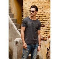 Camiseta Casual Vintage - Cinza Escura