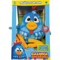 Pelúcia Com Sons - 28 Cm - Galinha Pintadinha - Dtc