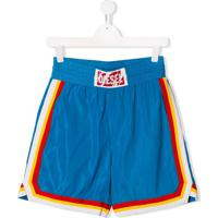 Diesel Kids Short Com Listra - Azul