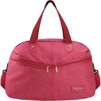 Bolsa De Viagem Com Bolsos- Vermelha & Rosa- 30X45X2Jacki Design