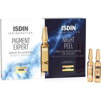 Kit Isdinceutcs Pigment Expert Sérum Clareador 10 Ampolas + Night Peel Peeling Esfoliante 10 Ampolas