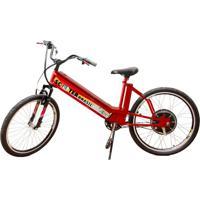 Bicicleta Elétrica Scooter Brasil Mtb 800W 48V 12Ah Cor Vermelha