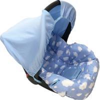 Capa Para Bebê Conforto Nuvem Alan Pierre Baby 0 A 13 Kg Azul
