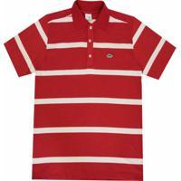 Camisa Pau A Pique Polo - Masculino-Vermelho