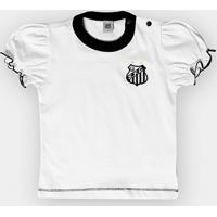 Netshoes  Camiseta Santos Infantil Baby Look Cores Clube - Feminino 49e65a03c2534