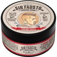 Pomada Opaca Para Cabelo Sir Fausto 100G - Unissex-Incolor