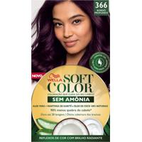 Tintura Soft Color Sem Amônia Bordô Profundo 366 Kit