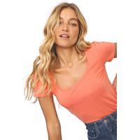 Blusa Calvin Klein Jeans Logo Coral