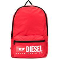 Diesel Kids Printed Shell Backpack - Vermelho
