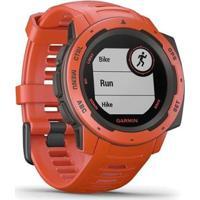 Monitor Cardíaco De Pulso Com Gps Garmin Instinct Flame - Unissex
