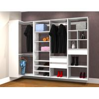 Conjunto Completo Para Closet 35 Branco - Getama Moveis