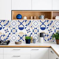 Revestimento De Azulejo Geometric Bleu