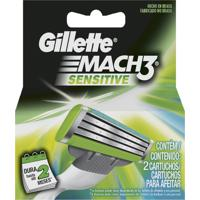 Carga Gillette Mach3 Sensitive - Com 2