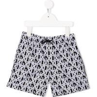 Dolce & Gabbana Kids Dg Print Swim Shorts - Preto