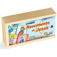Dominó O Nascimento De Jesus 28 Peças Caixa De Madeira