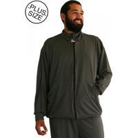 Blusa Plus Size Malha Bigmen Cinza