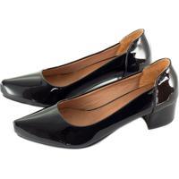 Sapato Alta Villa Shoes Bico Fino Preto