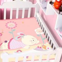 Cobertor Infantil Jolitex Raschel Conversando No Jardim Rosa Feminino