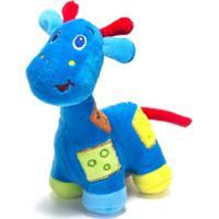 Chocalho De Pelucia Unik Toys Girafa Azul