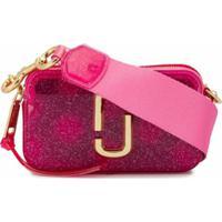 Marc Jacobs Bolsa Transversal Snapshot Com Brilho - Rosa