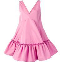 Nº21 Baby Doll V-Neck Dress - Rosa