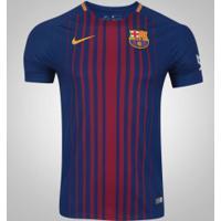 Camisa Barcelona I 17/18 Nike - Masculina - Azul Escuro
