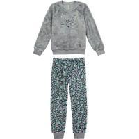 Pijama Cinza Infantil Com Máscara