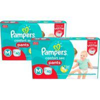 Kit Fralda Pampers Confort Sec Pants Tamanho M Com - Unissex-Incolor
