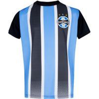 Camiseta Do Grêmio Classic - Infantil - Preto/Azul