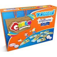 Dominó 4 Operações Carlu Brinquedos Colorido