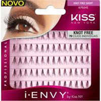 Cílios Postiços Kiss New York - I-Envy Individual Sem Nó Curto Multi-Pack - Feminino-Incolor